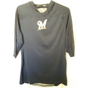 Nike Pro  Men Athletic Shirt Large